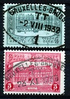 "TR 171/172 - ""BRUXELLES-BRUSSEL T. T. 1"" - Ovale Stempel - (ref. 31.418) - Railway"
