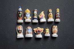 Fèves - Série Complète - Masques De Pays - Pays