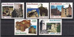 SAN MARINO 1999  L'ARCHITTETURA DEL MONTEFELTRO SASS. 1700-1704 MNH XF - Nuovi