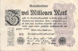ALLEMAGNE 2 MILLION MARK 1923 VF+ P 104 - [ 3] 1918-1933 : Weimar Republic