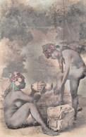 CPSMPF (seins Nus  )  Scenes Et Types  Jeunes Mauresque  Faisant Leur Toilette   (b.bur Theme)   Defaut - Africa Del Norte