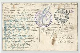 Marcophilie 1915 Prisonniers De Guerre Par Genève A Limburg Allemagne Cachet, Barque Voilier Transport Suisse - Guerra De 1914-18