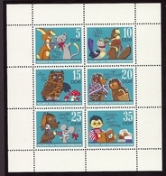 DDR, 1972, Michel-Nr. 1807-1812, Kleinbogen, **postfrisch - Blocks & Kleinbögen