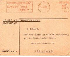 30 XI 50     Roodfrankering N255   15 Ct Utrecht  Op Envelop Met Firmalogo Naar Den Haag - Postal History