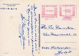 27 VII 92      Roodfrankering Maastricht Op Ansicht Naar Antwerpen - Postal History