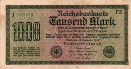 GERMANY-  1000 MARK 1922  P-76e2  CIRC.xf    Filigran -Gitter Mit 8 - [ 3] 1918-1933 : Weimar Republic