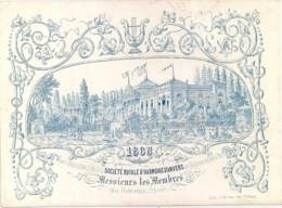 """ANVERS-ANTWERPEN """"1868 NIEUWJAARSWENSEN-SOCIETE D'HARMONIE"""" LITH.VAN DER WIELEN-163/120MM - Porseleinkaarten"""