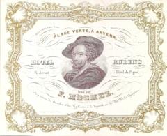 "ANVERS-ANTWERPEN "" HOTEL RUBENS -F.MOCHEZ""LITH.DAVELUY-165/135MM - Cartes Porcelaine"