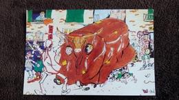 CPM LE FOLKLORE HERAULTAIS LE BOEUF DE MEZE N° 1 DESSIN STEPHANE FONGARO 1988 AMICALE AMICALE LAIQUE - Mèze