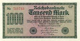 GERMANY-  1000 MARK 1922  P-76g  CIRC.aunc++   Filigran -Wellen  Serie  Nc 711743 - [ 3] 1918-1933 : Weimar Republic