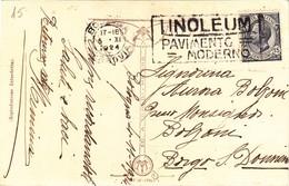 Cartolina Con Donnina - Targhetta LINOLEUM - 1900-44 Victor Emmanuel III