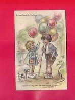 Carte Postale  , Série  AEC     Le Marchand De BALLONS S  ,VOUS N AVEZ PAS DE SAUCISSES ,   Germaine BOURET  1940 - Bouret, Germaine