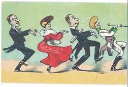Cpsm Illustrateur, Cake Walk, SARAH BERNHARDT , YVETTE GUILBERT, Caricatures  ( ILL ) - Otros Ilustradores