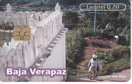 TARJETA DE GUATEMALA DE BAJA VERAPAZ - PURULHA (LADATEL-TELGUA) - Guatemala