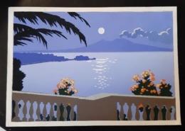 G. Meschini (?) Superbe Fond En Bleu/mauve - Illustrateurs & Photographes