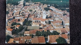 CPSM MARSEILLAN HERAULT VILLE VUE GENERALE AERIENNE COLL VALERA ED AS  2 EME CHOIX TOILEE VIEUX MOULIN - Marseillan
