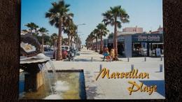 CPM MARSEILLAN HERAULT PLAGE PALMIER  AUTO GLACES HUITRE MONUMENT ED MERIDIONALES - Marseillan