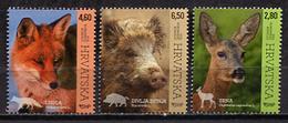 Croatia 2015 Croacia / Mammals Fox Wild Boar Deer MNH Mamiferos Säugetiere / Cu1302  33-57 - Sellos