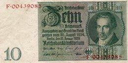 GERMANY- 10 MARK 1929  P-180b   Xf+aunc - 10 Mark