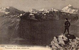 CPA 6967 SOMMET DU TORRENTHORN PANORAMA DES ALPES VALAISANNES CARTE POSTALE ANCIENNE 1911 - VS Valais