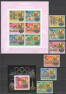 TT577 ONLY ONE IN STOCK RED OVERPRINT CENTRAL AFRICA 1980 MOSCOW MICHEL #726-31B BL115B 260 EU SET+BL+KB MNH - Summer 1980: Moscow