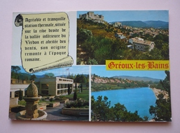 04 - Cpsm 150 X 105 - GREOUX-LES-BAINS - Multivues - Gréoux-les-Bains