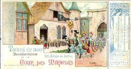 1cpa Carnet De EXPOSITION PARIS 1900 Café ART C1900 LITHO POSTCARD Artist G. GUIDI, +ticket RARE Cour De Miracles - Illustrators & Photographers