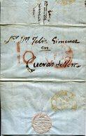 PREFILATELIA    Carta  De Guadix   A  Cuevas De Vera    ( 1825 ) - 026 - ...-1850 Prefilatelia