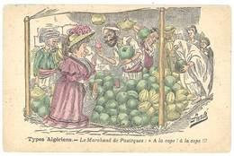 Cpa Illustrateur Signée Assus ( Afrique Du Nord ), Types Algériens, Le Marchand De Pastèques  ..  ( ILL ) - Altre Illustrazioni