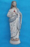 Statue JESUS CHRIST - SACRE COEUR  Polychrome Hauteur 20 Cm - Religion & Esotérisme