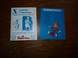 Buvard Vloeipapier Lot De 2 Spirou Robbedoes X Comme L'inconnu - Buvards, Protège-cahiers Illustrés