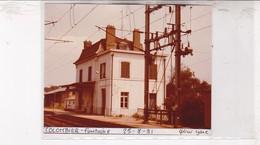 25 / COLOMBIER FONTAINE / PHOTO VERITABLE GARE 1981 - Autres Communes