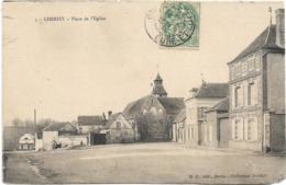 D28 - CHERISY - PLACE DE L'EGLISE - Pub. Sur Le Mur : Chocolat Menier - Au Bucheron - France