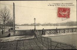Cp Boulogne Billancourt Hauts De Seine, Inondation, Barrage Du Pont, Hochwasser - France