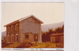 25 / MAISON DU BOIS / LIEVREMONT / PHOTO VERITABLE GARE 1982 - Autres Communes