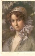 """A Young Lady"" Nice Vintage Austrian Postcard - Vienne"