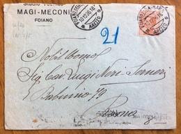 FOIANO DELLA CHIANA * AREZZO * 10/12/26.18 - Annullo Su MICHETTI 60 C. - Busta Per ROMA - 1900-44 Vittorio Emanuele III
