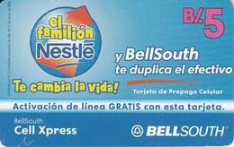 TARJETA DE PANAMA DE BELLSOUTH DE B/.5 EL FAMILION NESTLE - Panama