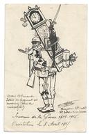 Unique - Dessin Humoristique à L'encre - 14-18 Soldat Du Régiment Du Kronprinz - Émile GOFFINET 1915 - Andere