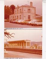 29 / LANDIVISIAU /    2 PHOTO VERITABLE GARE 1980 - Landivisiau