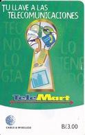 TARJETA DE PANAMA DE CABLE & WIRELESS DE B/3.00 TELEMART - Panama