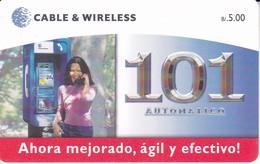 TARJETA DE PANAMA DE CABLE & WIRELESS DE B/5.00 AUTOMATICO 101 - Panama