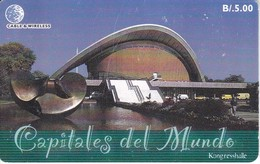 TARJETA DE PANAMA DE CABLE & WIRELESS DE B/5.00 KONGRESSHALLE - Panama