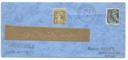 1c SEMEUSE & 2c MERCURE SUR ENVELOPPE /  FOIRE DE PARIS 1940 POUR CLEON D'ANDRAN / IMPRIMES POUR AVEUGLES - Marcophilie (Lettres)