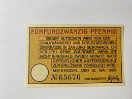 Allemagne Notgeld Meiningen 25 Pfennig - [ 3] 1918-1933 : République De Weimar