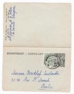 Kaartbrief Nr 33  NF   Kantwerkster 1,75 BF Met Bijfrankering 25 Ct / Van Waregem => Roeselare - Sobres-cartas