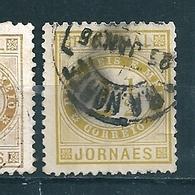 N° 50 A Timbre Pour Journaux (Dent. 11 1/2) Olivejaune  Timbre Portugal 1876 Journaes - 1853 : D.Maria