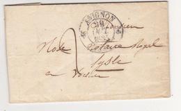 Au Plus Rapide Lettre Avignon Pour Notaire Royal L'Isle Sur La Sorgue 29 Octobre 1835 - 1801-1848: Précurseurs XIX