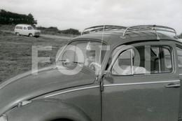 60s REAL ORIGINAL AMATEUR PHOTO  FOTO CAR VOITURE VW VOLKSWAGEN BEETLE COCCINELLE CAROCHA  BT57 - Automobili