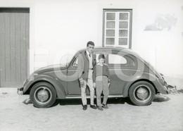 60s REAL ORIGINAL AMATEUR PHOTO  FOTO CAR VOITURE VW VOLKSWAGEN BEETLE COCCINELLE CAROCHA  BT58 - Automobili